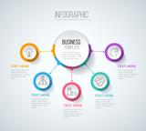 Five steps infograph...