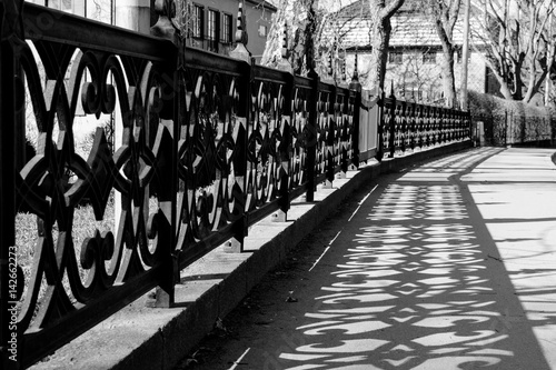 Fotobehang Stockholm Fence and shadow