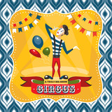 Circus card with mime artist