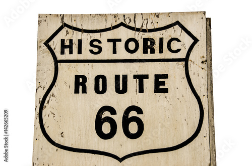 Historic Route 66 Shield Sign