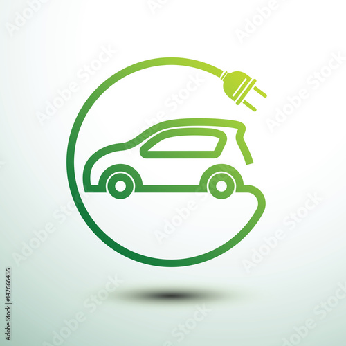 Wall mural Electric car vector