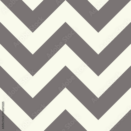 Zigzag seamless pattern in beige and gray tones - 142673225