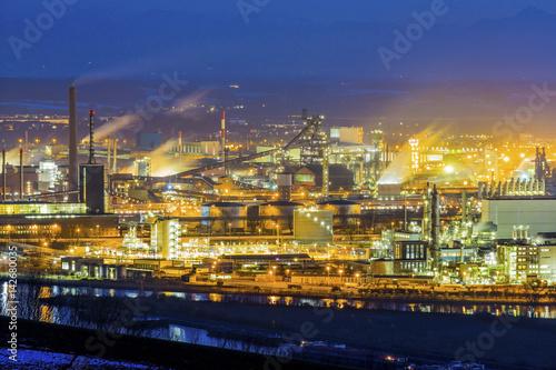 Fotobehang Industrial geb. Österreich, Linz, Industriegebiet