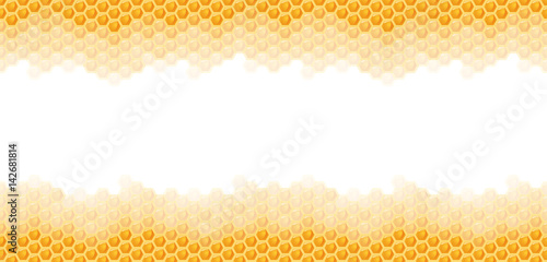 seamless honey comb background - 142681814