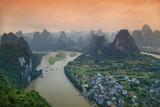 Li River and rocks in Guangxi Province