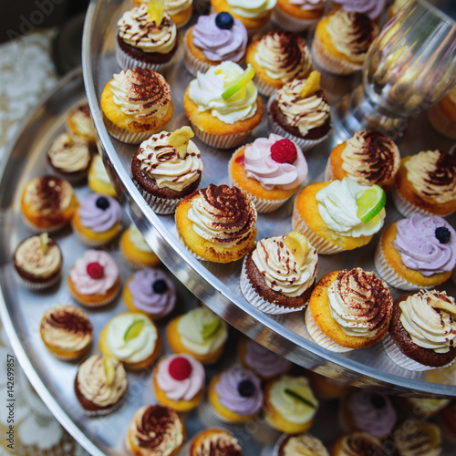 Poster Set of cupcake