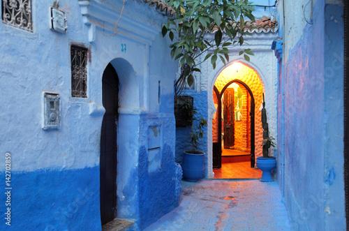 Aluminium Marokko The blue city of Chefchaouen. Morocco