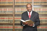 Lawyer in law library with copy space - 142704210