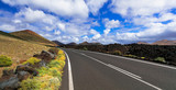 Travel in Canary islands - roads of volcanic Lanzarote