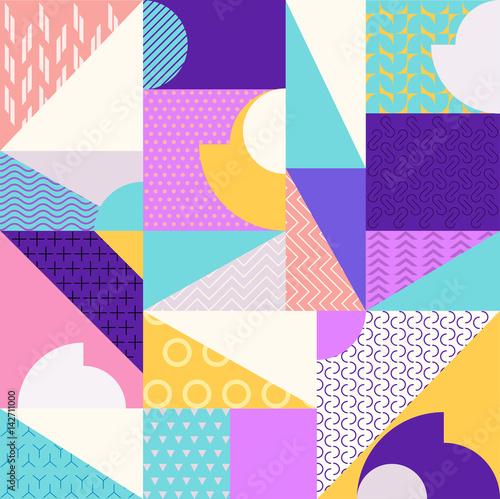 Materiał do szycia Abstract multicolored geometric pattern