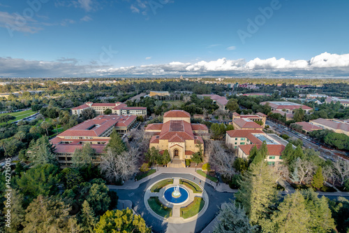 Aerial view of Stanford University Campus - Palo Alto, California, USA Poster