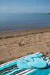 Blue Flip Flops on Beach Towel Lake Michigan