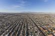 Aerial view of sprawling communities in Las Vegas, Nevada.