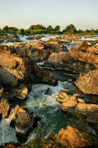 Poster Li Phi waterfall at Don Khon Island
