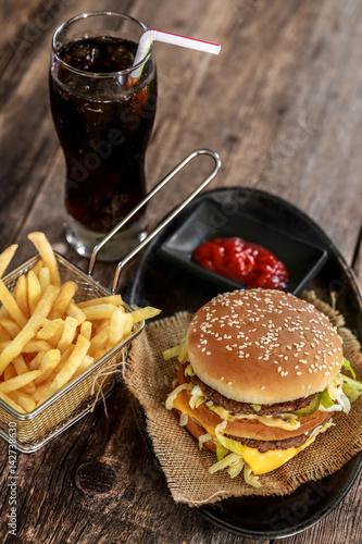 Poster burger, frites & coca cola 6