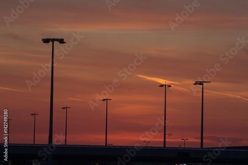 Poster Sunset Amsterdam