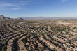 Aerial view of modern homes in the Summerlin area of Las Vegas, Nevada.