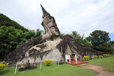 Reclining Buddha Statue in Wat Xieng Khuan Buddha park.