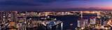 東京ベイエリアの夕景 大パノラマ