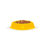 Dog food in a bowl vector - 142769285