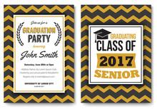 Graduation Party  Template Invitation Sticker