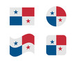 set 4 flags of panama