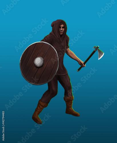 A severe barbarian viking - 142794483