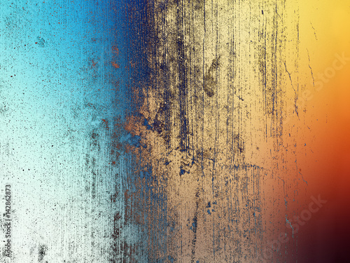 Blue and orange abstract background illustration