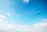 A blue light sky with clouds like a heavenly landscape
