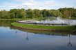 The fountain on the island in memorial estate Tsaritsyno. Moscow