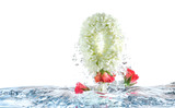 jasmine garland dropped in water