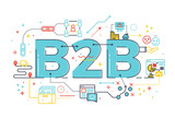 B2B : Business to business, word illustration - 142890047