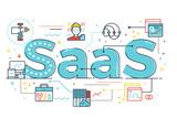 SaaS word illustration - 142890080
