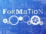 Formation Blueprint Tech Drawing - 142896051