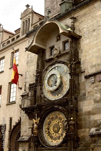 Poster Prag Marktplatz astronomische Uhr