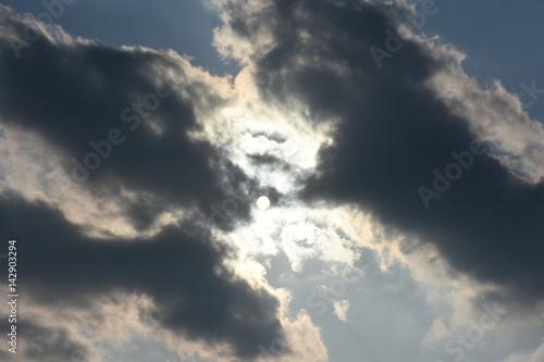 太陽と雲「空想・太陽に集まるモンスターたち」 Poster