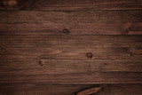 Dark brown wood plank panel for wall and floor - 142913461