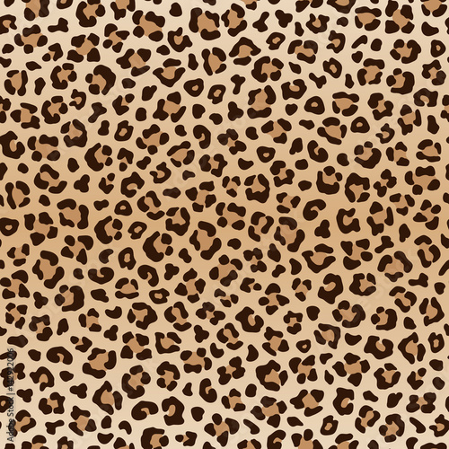 Fototapeta Seamless animal leopard pattern, vector
