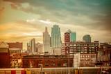 Fototapety kansas city MO skyline sunset