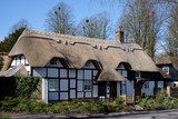 View of a Thatched cottage in Micheldever Hampshire