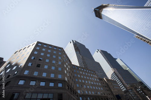 NEW YORK CITY - August 30: The construction of NYC's World Trade Center towers as seen on August 30, 2012 Poster