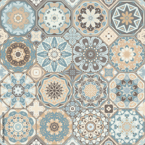 Set of octagonal and square patterns. - 142986629