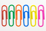 colored paper clips - paperclip - 142993011