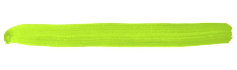 Grüner isolierter Streifen aus Tusche © kebox