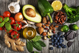 Healthy food with vegetable and fruit - 143011677