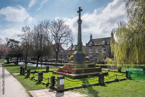 Memorial Cross in Bourton-on-the-Water Poster