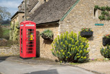 Defibrillator in and Old Phone Box in Upper Slaughter Village