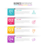 Infographic template for four options , steps or process. Perfect for workflow layout, annual report, business concept - 143027270