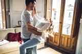 Fototapety Beautiful young couple dancing