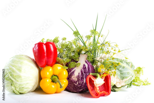 Composition with vegetables.